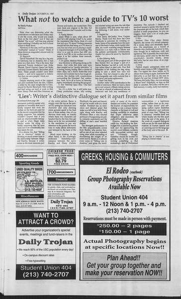 Daily Trojan, Vol. 132, No. 40, October 24, 1997