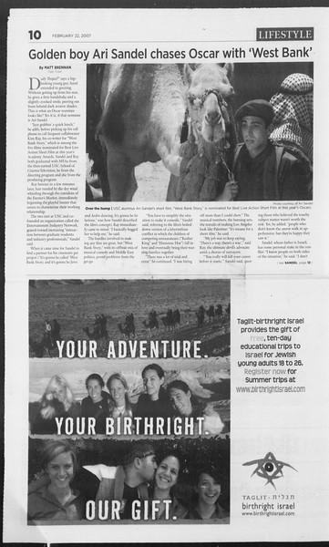 Daily Trojan, Vol. 160, No. 29, February 22, 2007