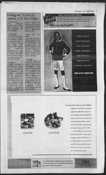 Daily Trojan, Vol. 132, No. 5, September 04, 1997