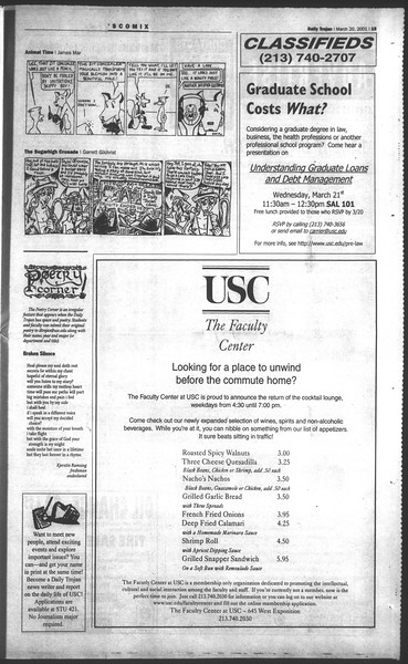 Daily Trojan, Vol. 142, No. 40, March 20, 2001