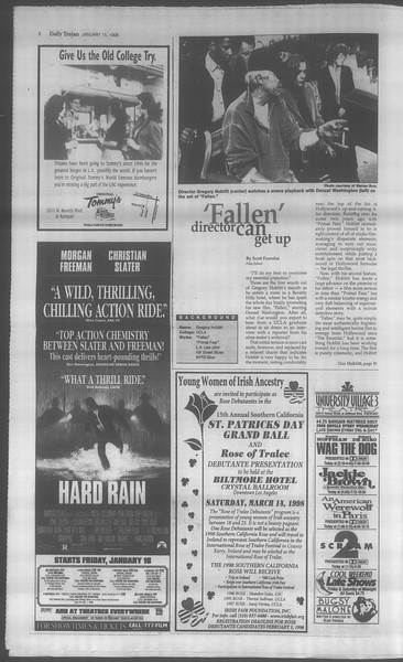 Daily Trojan, Vol. 133, No. 6, January 15, 1998