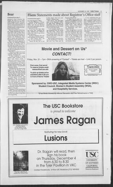 Daily Trojan, Vol. 132, No. 57, November 18, 1997