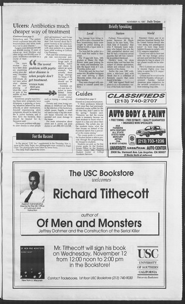 Daily Trojan, Vol. 132, No. 51, November 10, 1997