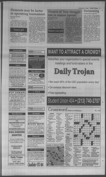 Daily Trojan, Vol. 133, No. 21, February 09, 1998