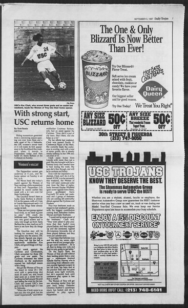 Daily Trojan, Vol. 132, No. 6, September 05, 1997