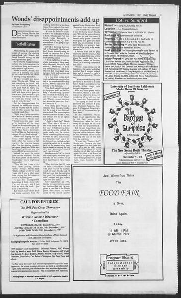 Daily Trojan, Vol. 132, No. 50, November 07, 1997