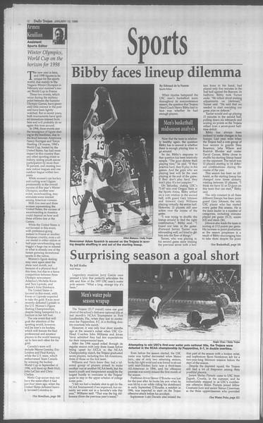 Daily Trojan, Vol. 133, No. 4, January 13, 1998