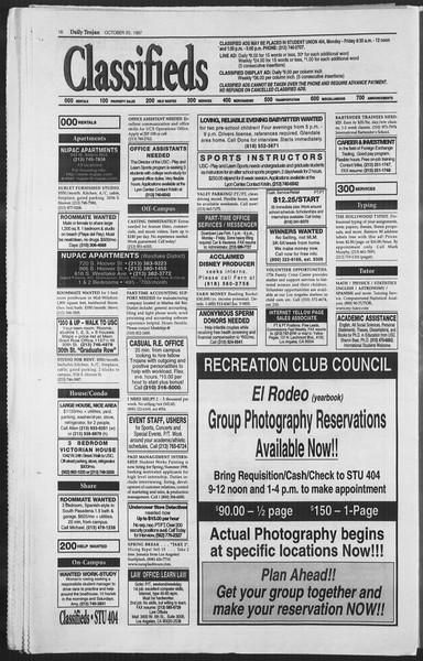 Daily Trojan, Vol. 132, No. 36, October 20, 1997