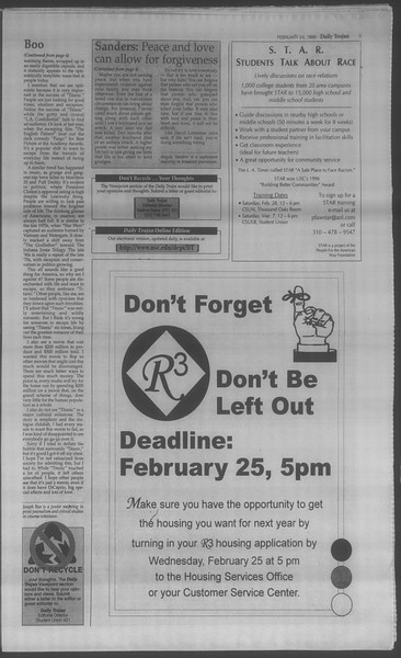 Daily Trojan, Vol. 133, No. 30, February 24, 1998