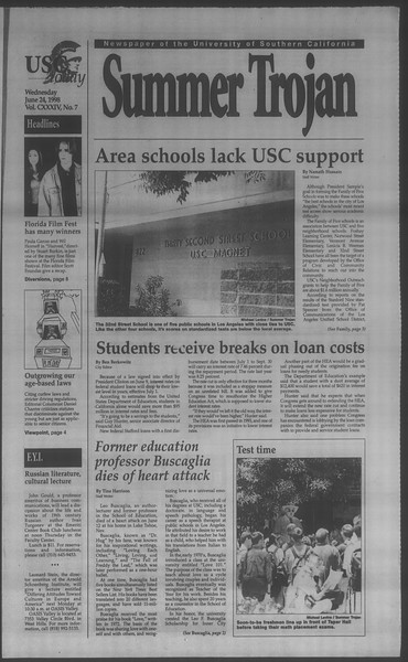 Summer Trojan, Vol. 134, No. 7, June 24, 1998