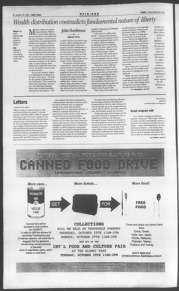 Daily Trojan, Vol. 144, No. 41, October 25, 2001