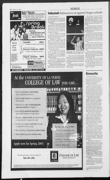 Daily Trojan, Vol. 153, No. 41, October 21, 2004