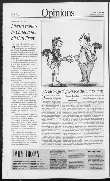 Daily Trojan, Vol. 153, No. 52, November 05, 2004