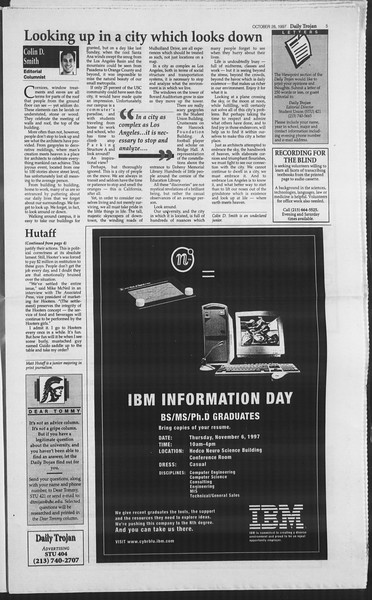 Daily Trojan, Vol. 132, No. 42, October 28, 1997