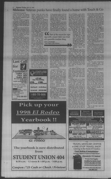 Summer Trojan, Vol. 134, No. 2, May 20, 1998