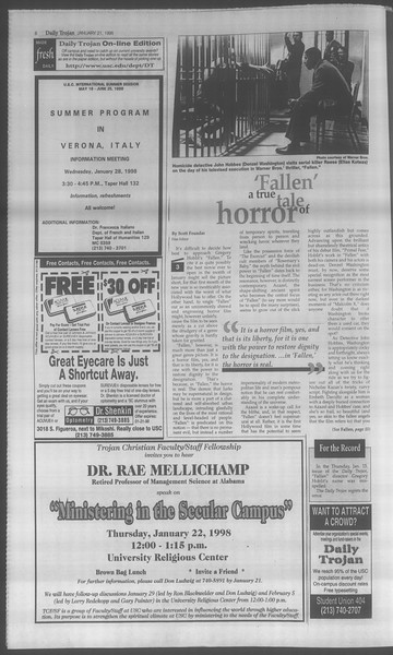 Daily Trojan, Vol. 133, No. 8, January 21, 1998