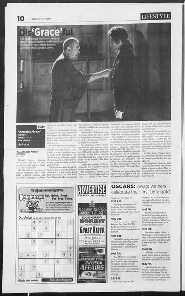 Daily Trojan, Vol. 160, No. 32, February 27, 2007