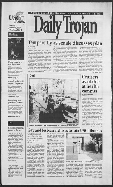 Daily Trojan, Vol. 130, No. 12, January 28, 1997