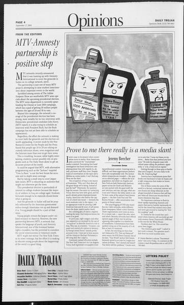 Daily Trojan, Vol. 153, No. 18, September 17, 2004