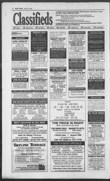 Daily Trojan, Vol. 127, No. 66, April 25, 1996