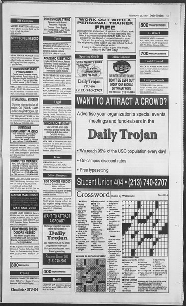 Daily Trojan, Vol. 130, No. 30, February 25, 1997