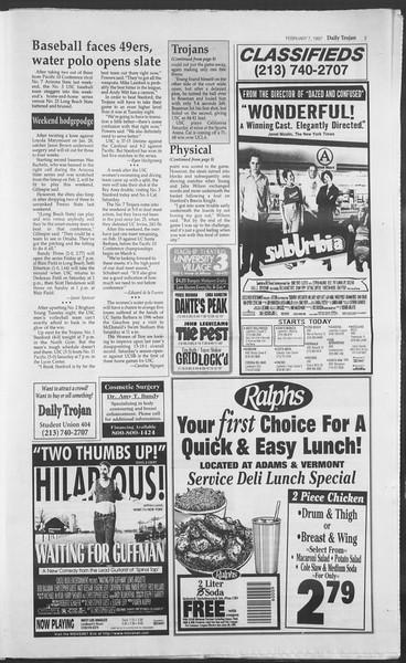 Daily Trojan, Vol. 130, No. 20, February 07, 1997