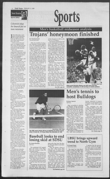 Daily Trojan, Vol. 127, No. 17, February 06, 1996