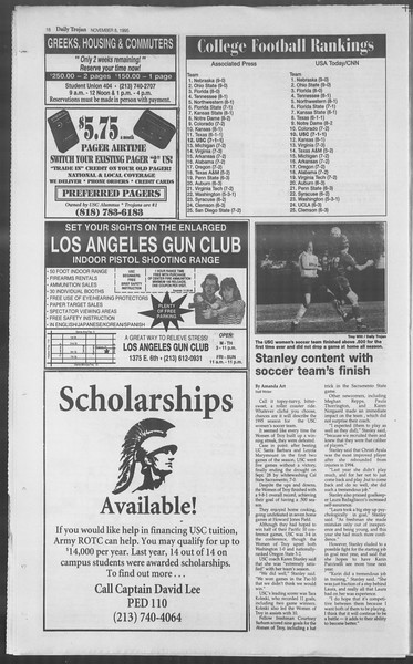 Daily Trojan, Vol. 126, No. 48, November 08, 1995