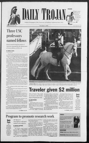 Daily Trojan, Vol. 153, No. 54, November 09, 2004