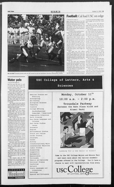 Daily Trojan, Vol. 153, No. 33, October 11, 2004