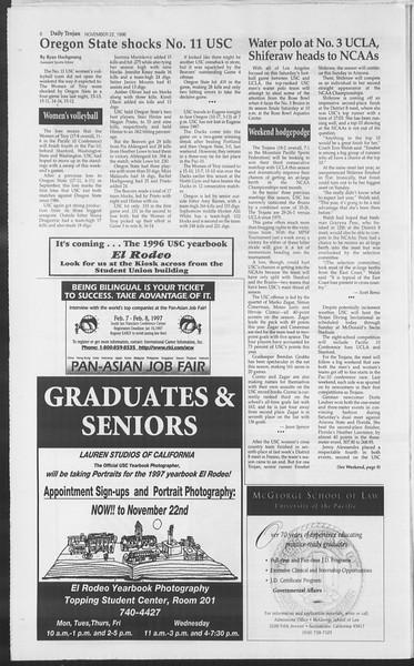Daily Trojan, Vol. 129, No. 60, November 22, 1996