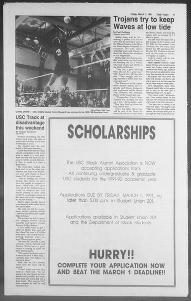 Daily Trojan, Vol. 114, No. 34, March 01, 1991