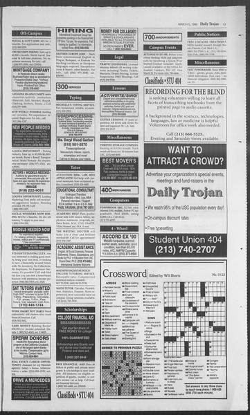 Daily Trojan, Vol. 127, No. 35, March 05, 1996