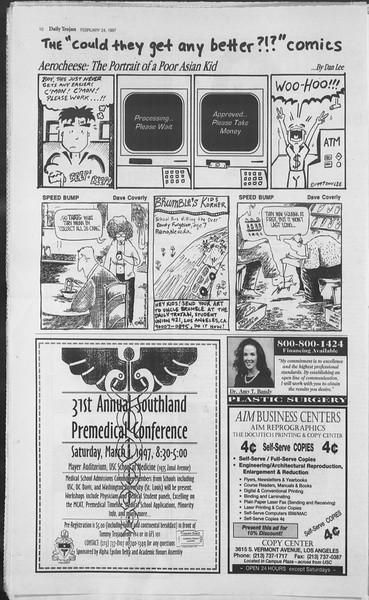 Daily Trojan, Vol. 130, No. 29, February 24, 1997