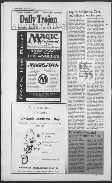 Daily Trojan, Vol. 130, No. 26, February 19, 1997