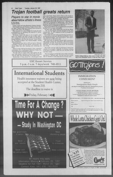 Daily Trojan, Vol. 114, No. 13, January 29, 1991