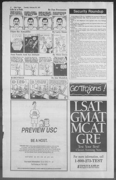 Daily Trojan, Vol. 114, No. 31, February 26, 1991