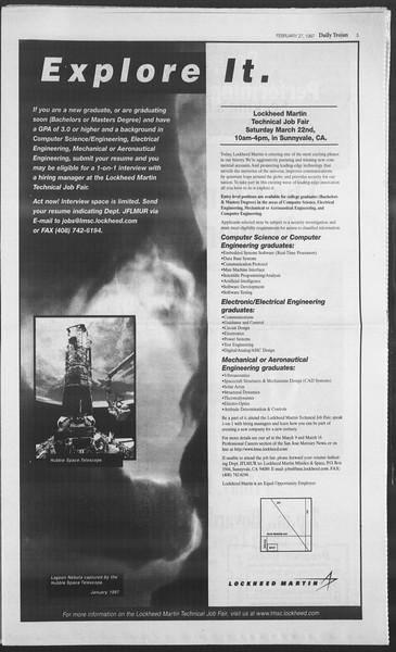 Daily Trojan, Vol. 130, No. 32, February 27, 1997
