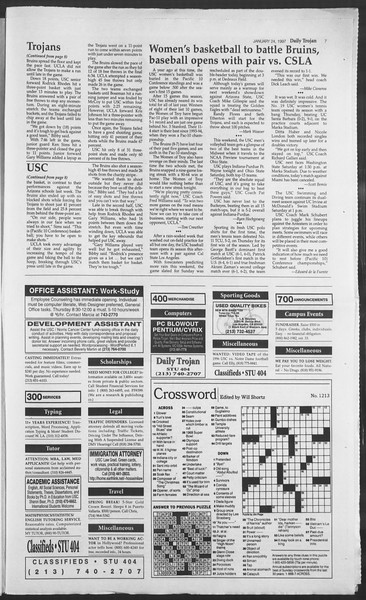 Daily Trojan, Vol. 130, No. 10, January 24, 1997