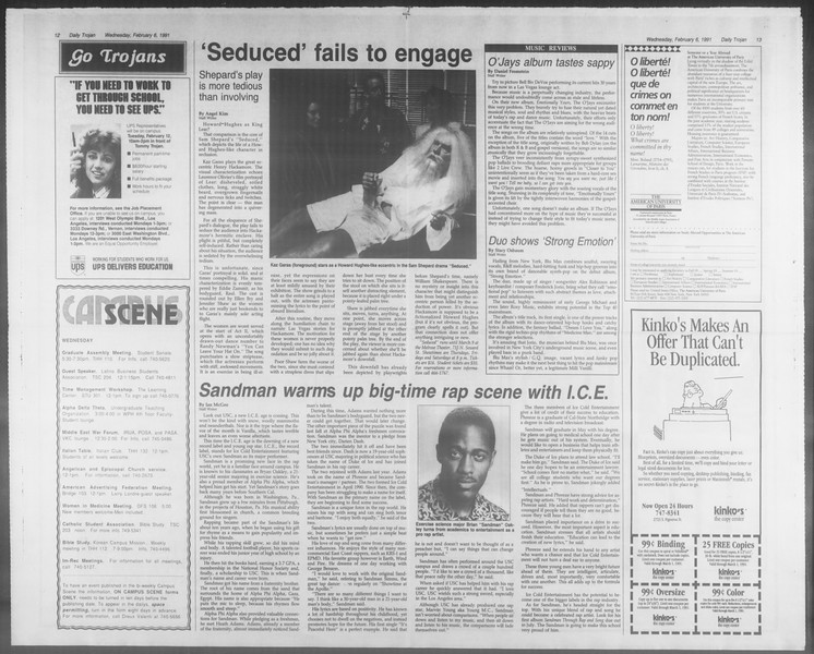 Daily Trojan, Vol. 114, No. 19, February 06, 1991