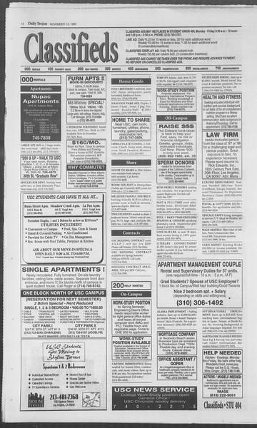 Daily Trojan, Vol. 126, No. 51, November 13, 1995
