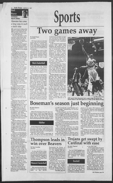 Daily Trojan, Vol. 130, No. 34, March 03, 1997