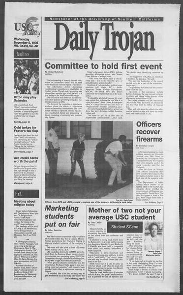 Daily Trojan, Vol. 126, No. 48, November 08, 1995