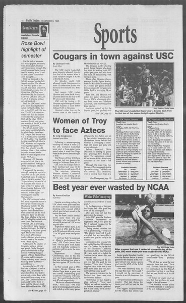 Daily Trojan, Vol. 126, No. 64, December 06, 1995