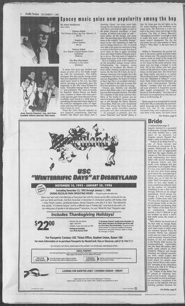 Daily Trojan, Vol. 126, No. 65, December 07, 1995