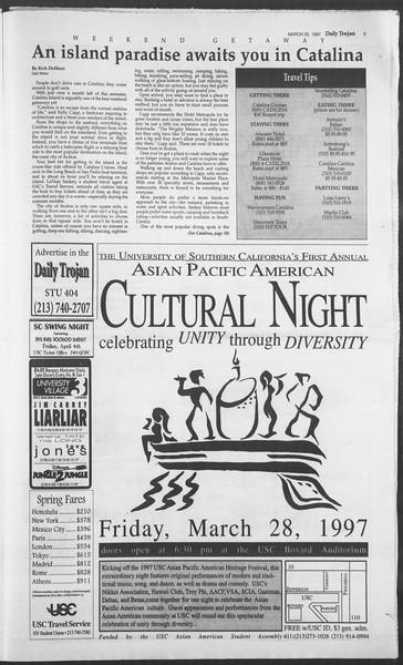 Daily Trojan, Vol. 130, No. 44, March 26, 1997