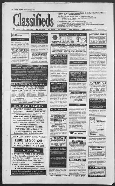 Daily Trojan, Vol. 130, No. 27, February 20, 1997