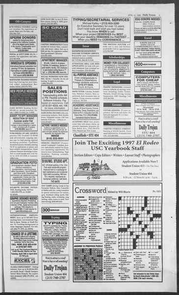 Daily Trojan, Vol. 127, No. 57, April 12, 1996