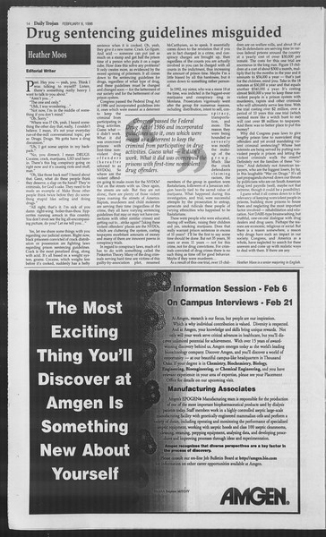 Daily Trojan, Vol. 127, No. 19, February 08, 1996