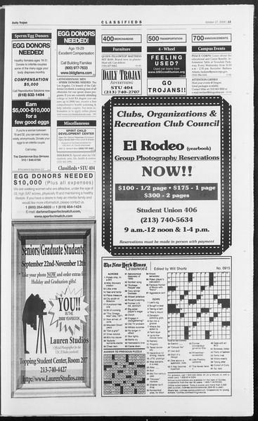 Daily Trojan, Vol. 153, No. 45, October 27, 2004